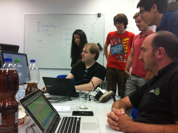 Moment of awe at the BioJS Hackathon in Munich 4-9th August 2014