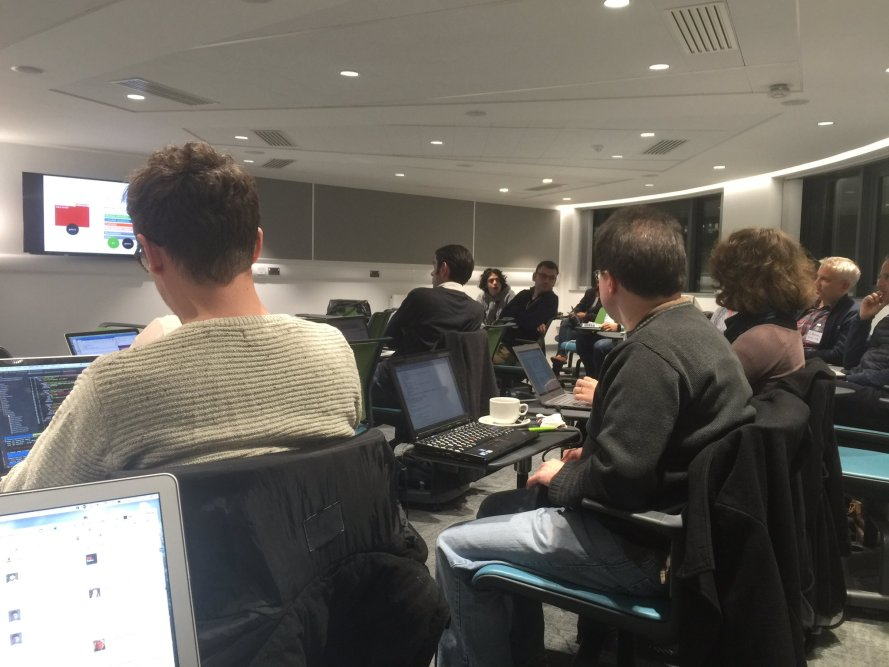 Attendees to the Bioschemas hackathon